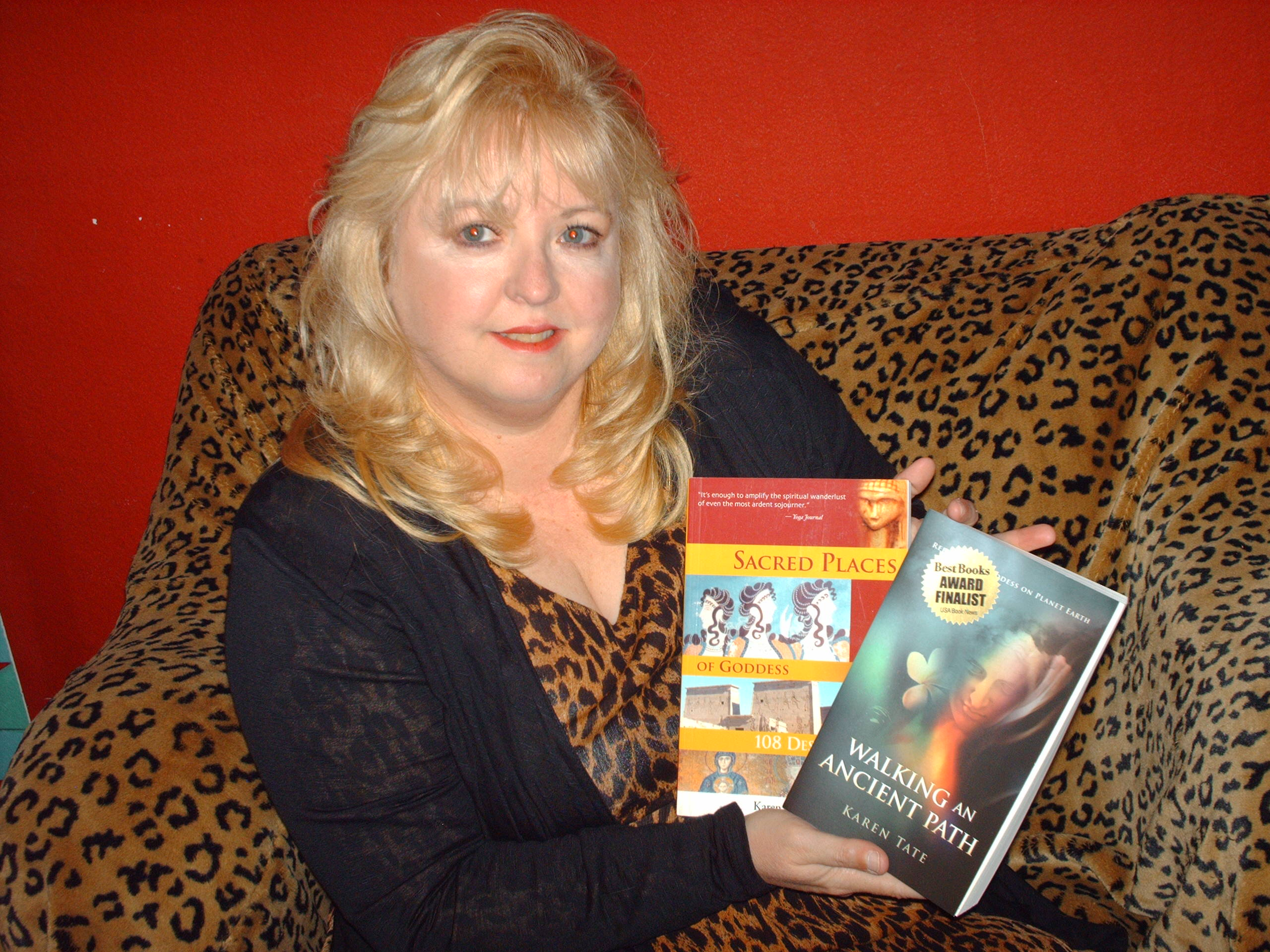 Karen Holding two books