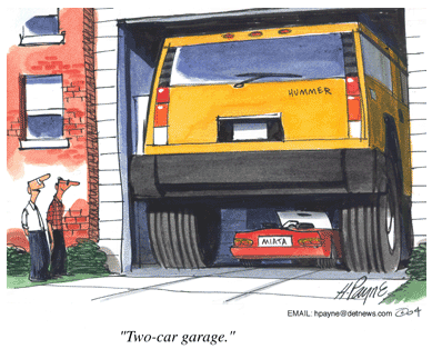 Picture of Two Car Garage Cartoon