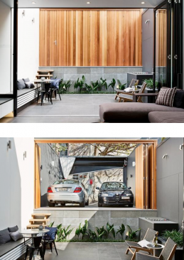 Picture of stylish garage doors