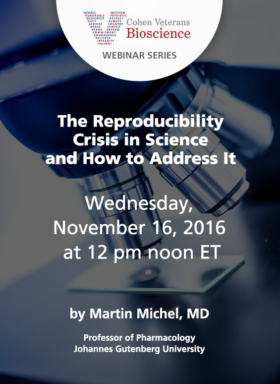 Join us for a Webinar on Wednesday, November 16th at 12pm ET