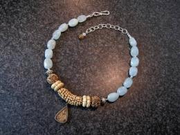 Aquamarijn met Boeddha amulet