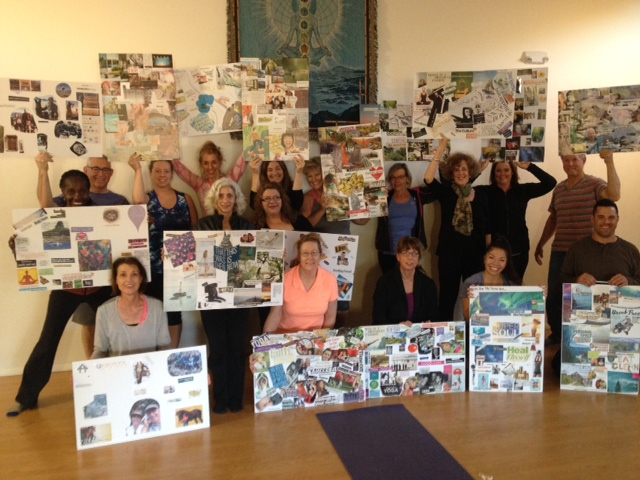 Image of vision board workshop students