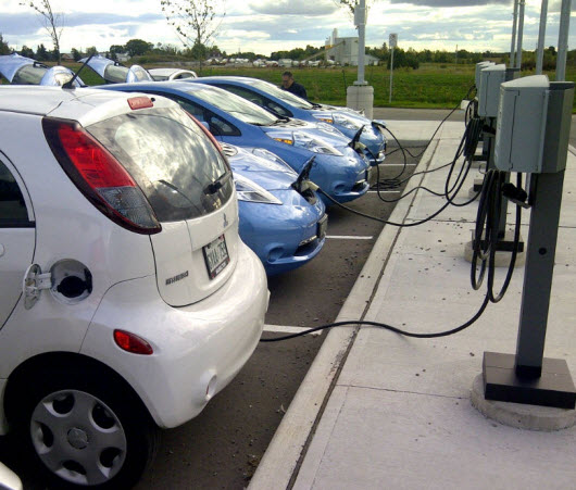 A Gathering of Electric Vehicles Charging up at the Twin Pad Arena's Facility!