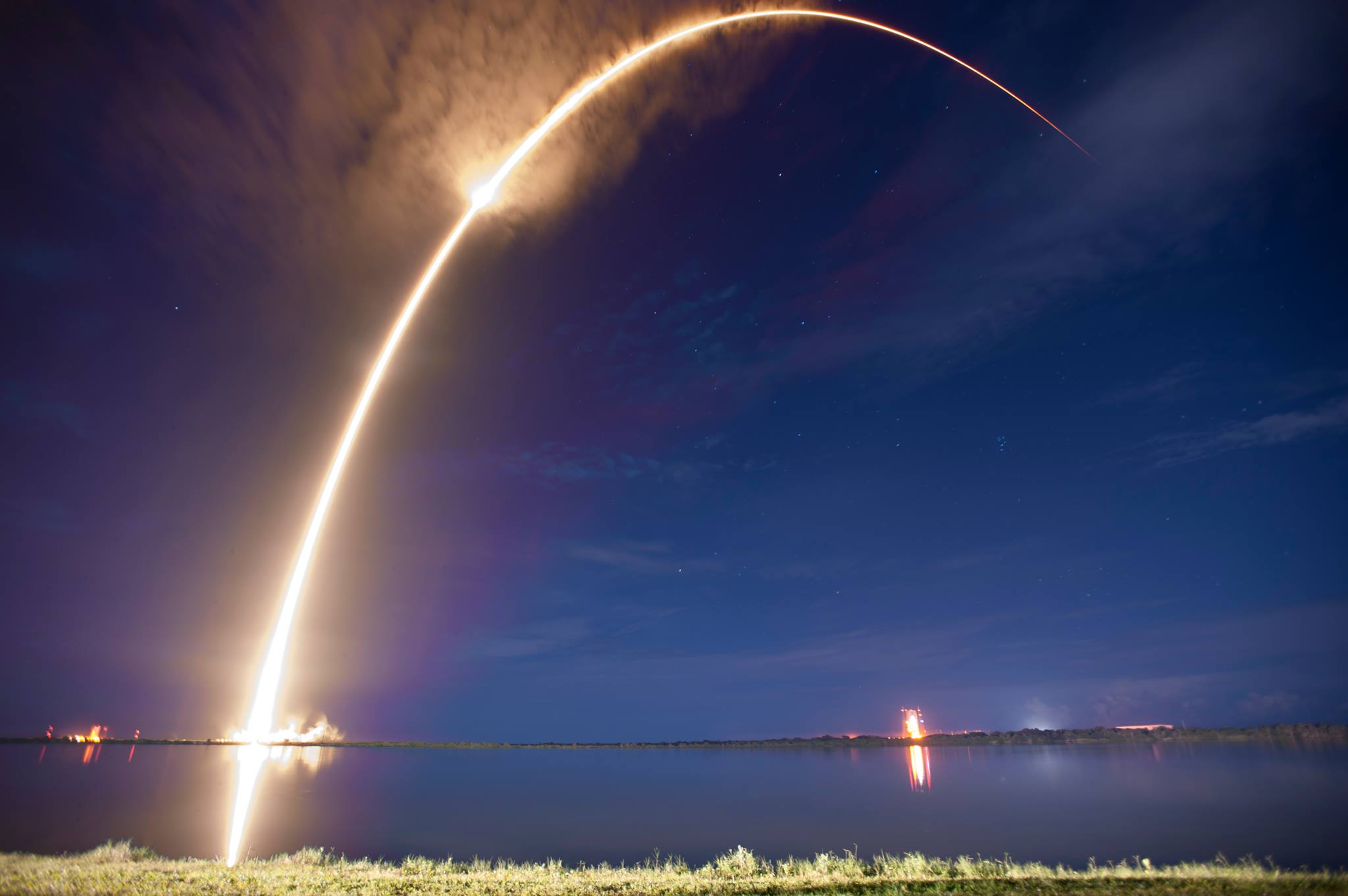 SpaceX Fakcn 9 launches from KSC during the AAF 4th District Summer 14 Conference in Cocoa Beach