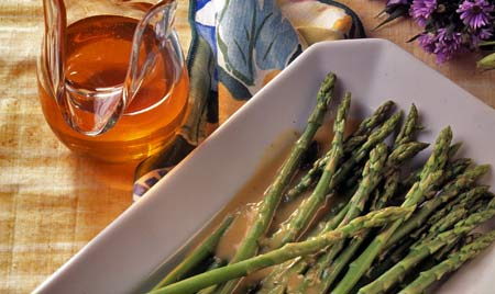 Asparagus with Honey Garlic Sauce