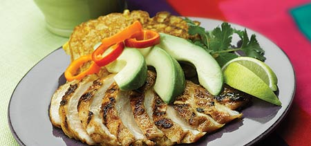Chicken Fajita Grill with Avocados