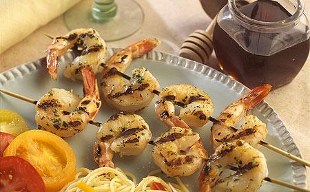 Grilled Honey Glazed Shrimp