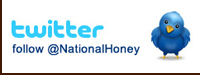 twitter - follow @NationalHoney