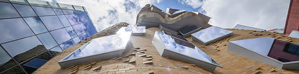 he Frank Gehry designed UTS business school, in Ultimo, Sydney