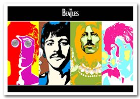 The Beatles Colourful poster