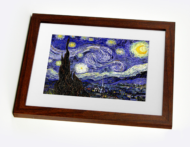 Van gogh stary night framed print