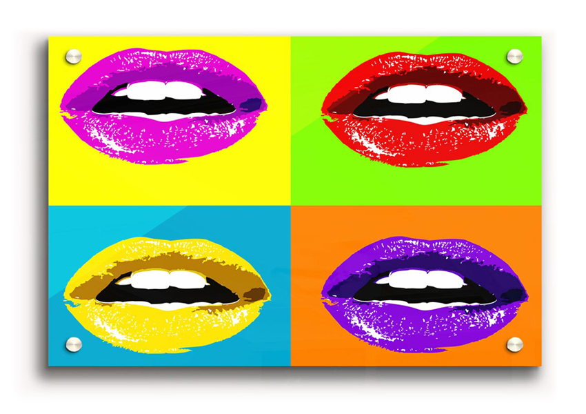 cotemporary lips acrylic art