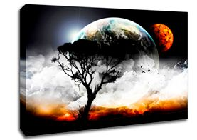 Tree And Space Canvas
