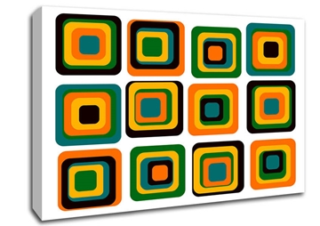 Blocks Of Colour Stretched Contemporary