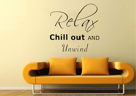 Relax Quote Wall Sticker