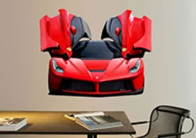 Ferrari Full Coloured Wallsticker