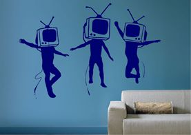Tv heads Banksy