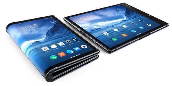 Tablet FlexiPai, plegada y sin plegar