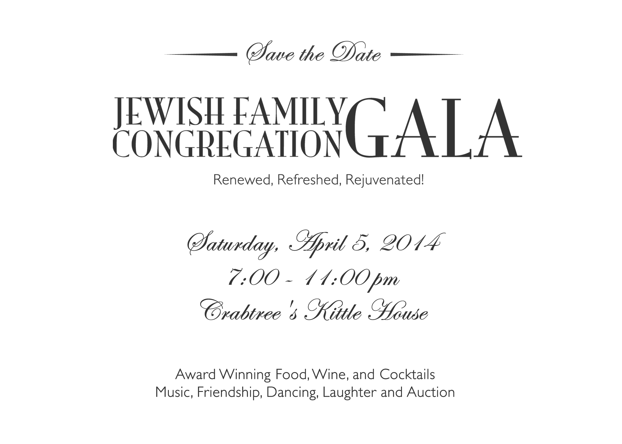 Save the Date for the Gala 2014