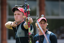 Jacob Wukie, a member of Grace Community Church, Fremont, Ohio (Kevin Pinkerton, pastor), received a silver medal in archery during the 2012 Olympics.