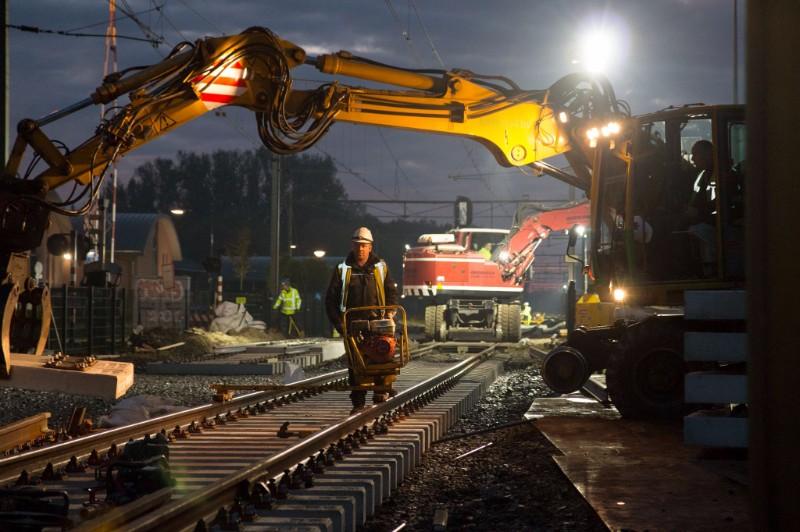 Foto's spoorvernieuwing Eindhoven - Weert