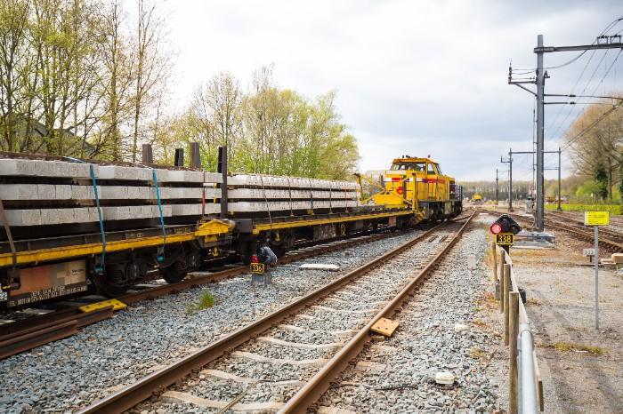 Werkzaamheden op de lijn Almelo-Mariënberg.