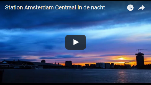 Station Amsterdam Centraal in de nacht | ProRail
