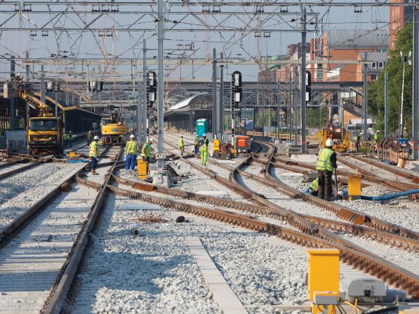 Werkzaamheden op het spoor