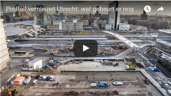 ProRail vernieuwt Utrecht: wat gebeurt er nog in 2016?