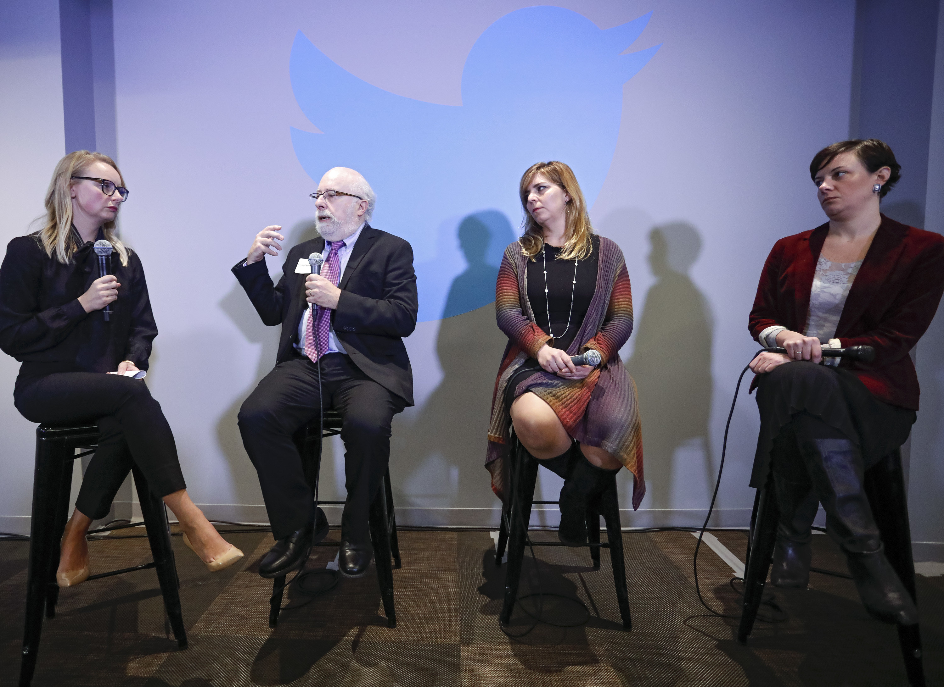 From left: Twitter's Lisa Roman, Kenneth Stern, Shannon Martinez, and Kate Klonick. (c) Shahar Azran / World Jewish Congress