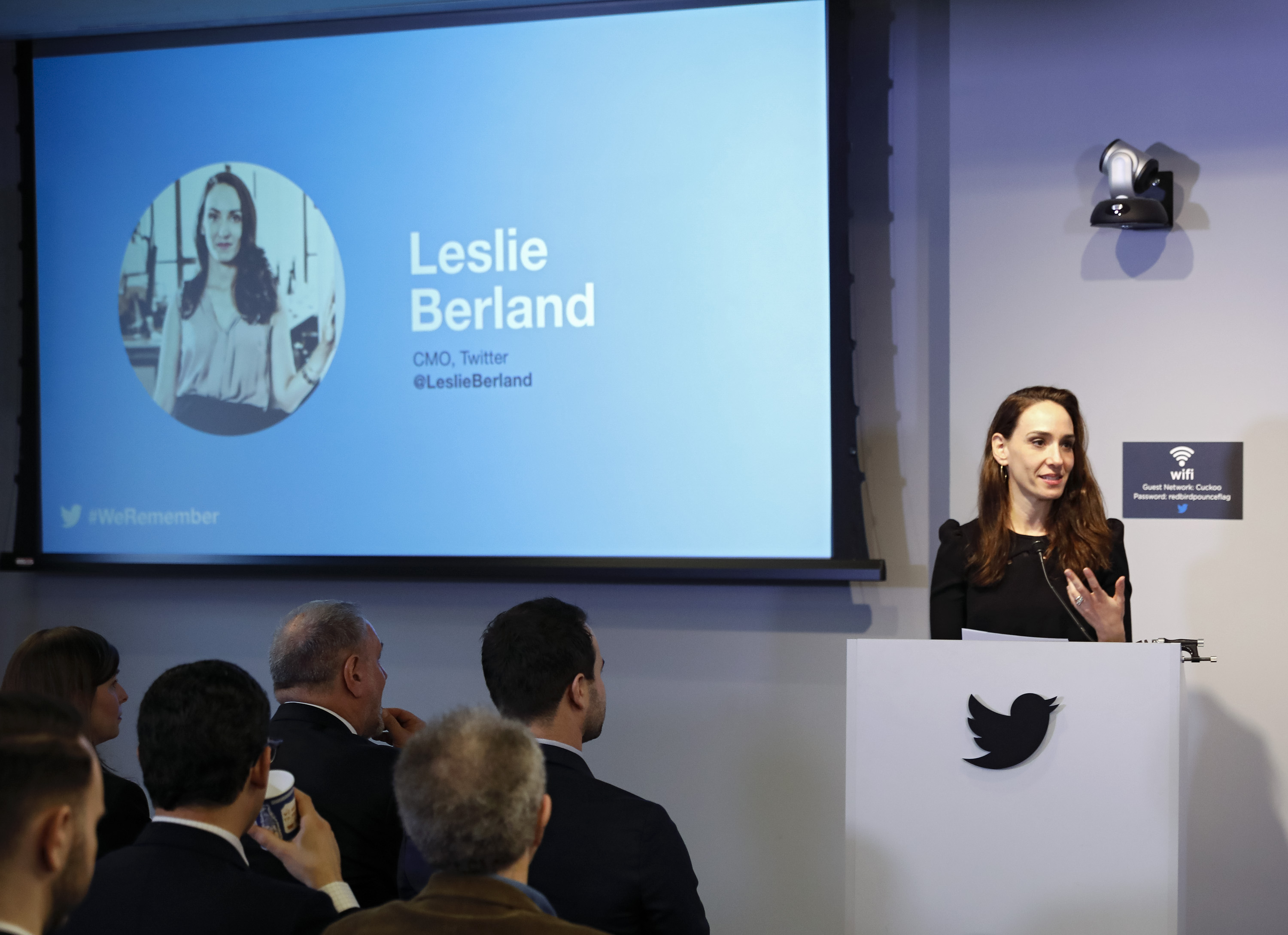 Twitter CMO and Head of People Leslie Berland (c) Shahar Azran / World Jewish Congress