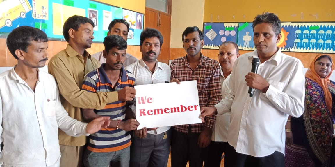 Participants of the #WeRemember initiative in India. (c) Courtesy of World Jewish Congress