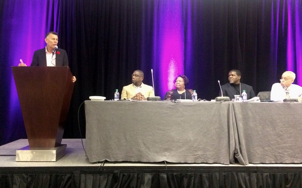 Racially visible conference pic
