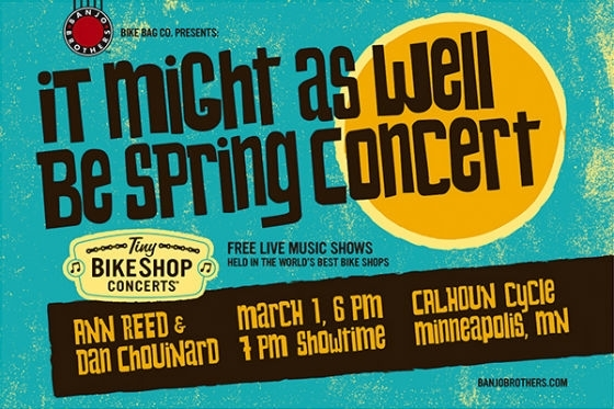 Tiny Bikeshop Concert March 1st at Calhoun Cycle