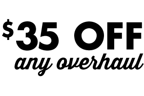 Save $35 on any overhaul