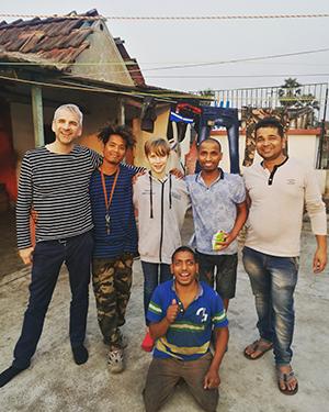Adam, Raja, Frankie, Vijay, Pappu, Bablu (in front)