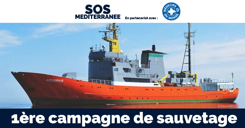 SOS MEDITERRANEE - 1ère CAMPAGNE DE SAUVETAGE
