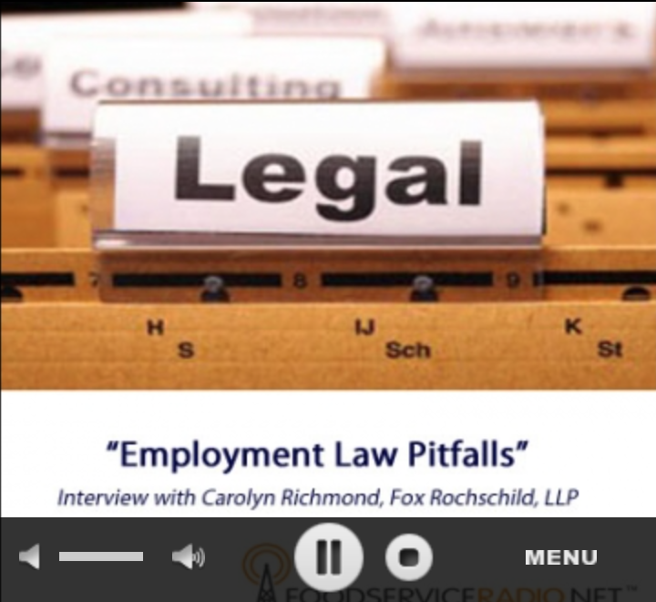 Current issues in employment law affecting food service operators