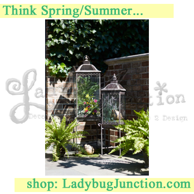Lantern w/Stand (Set of 2) 36inH, 45in H Iron/Glass - See more at: https://www.ladybugjunction.com/items/lantern-w-stand-set-of-2-36inh-45in-h-iron-glass-id50430#sthash.3ZeDvqs6.dpuf