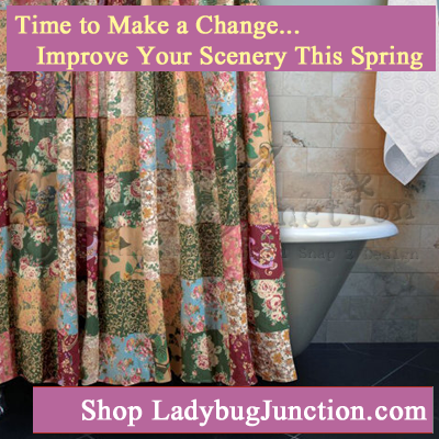 Antique Chic Bath Shower Curtain