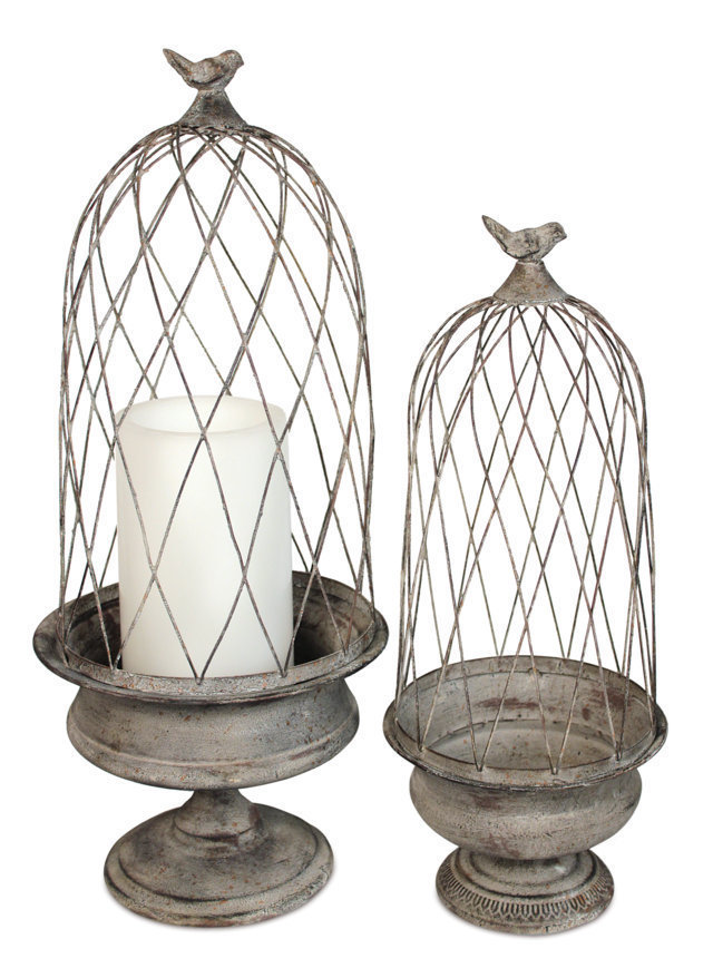 Birdcage Candle Holder Set of 2