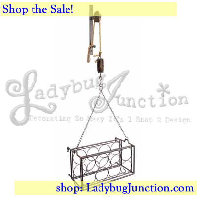 Pulley Mounted Wine Rack