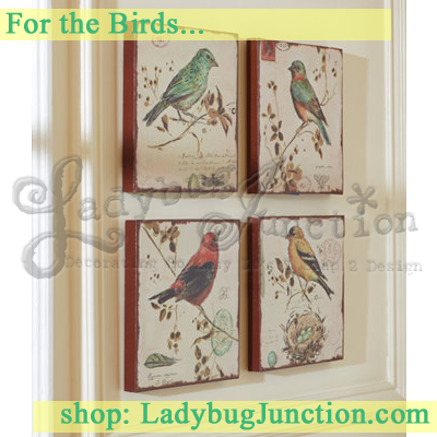 Bird Wall Canvas Set of 4
