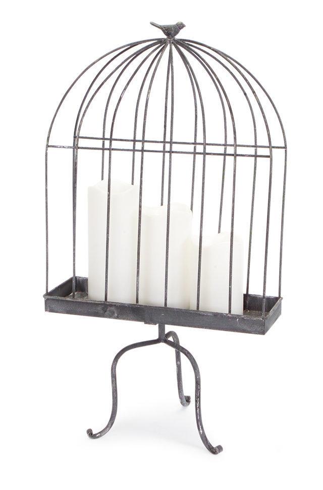 Oxidized Birdcage Stand Lantern