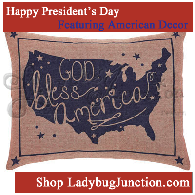 God Bless America Pillow Cover Set of 2 14x18
