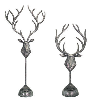 Deer Head Table Finial Set of 2