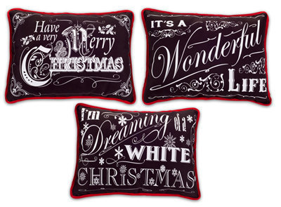 Chalkboard Pillows Set of 3