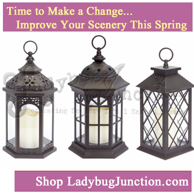 Decorative Lantern with LED Candle Set of 3