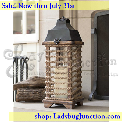 Rope Wrapped Lantern