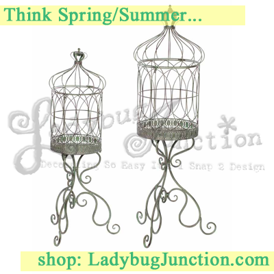 Birdcage Plant Stand Set of 2